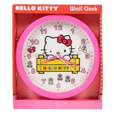 Sanrio Hello Kitty Wall Clock Analog Girls Kids Playroom Bedroom Tell