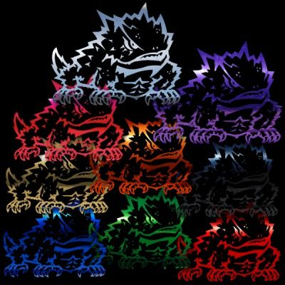 TCU Horned Frogs 8 2 Color Auto Window Stickers Decals