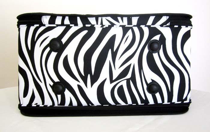18L Pet Carrier Luggage Dog Cat Travel Bag Purse Zebra
