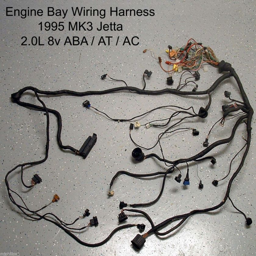 VW MK3 2.0L ABA AT Jetta Golf Engine Bay Wiring Harness 1995 GL OBD1