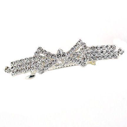 Elegant Tied Bow Swarovski Crystal Rhinestone Barrette