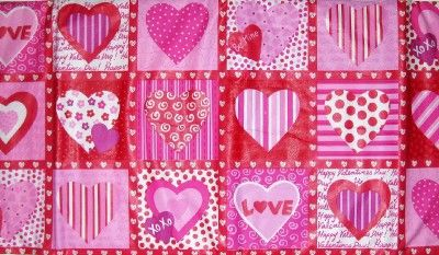 VALENTINES DAY TABLECLOTH 60 x 84 Pink Red Hearts NEW