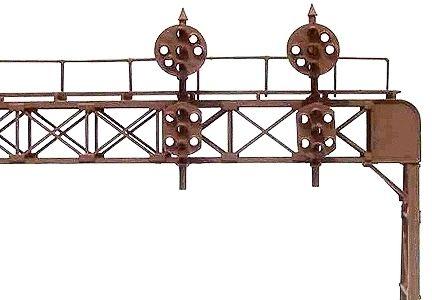 HO SCALE OREGON RAIL SUPPLY 150 TWO TRACK SIGNAL BRIDGE W/PRR