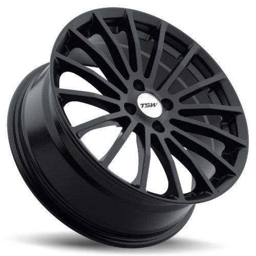 17 TSW Mallory Matte Black Wheels Rims 4x100 4 Lug Honda Civic Scion